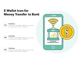 E Wallet Icon For Money Transfer To Bank