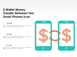 E Wallet Money Transfer Between Two Smart Phones Icon