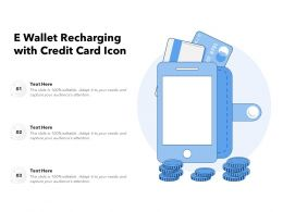 E Wallet Recharging With Credit Card Icon