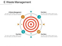 E Waste Management Ppt Powerpoint Presentation Model Diagrams Cpb