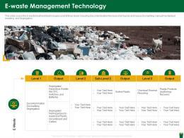 E Waste Management Technology Hazardous Waste Management Ppt Microsoft