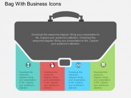 ea Bag With Business Icons Flat Powerpoint Design