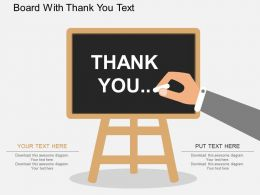 Ea Board With Thank You Text Flat Powerpoint Design