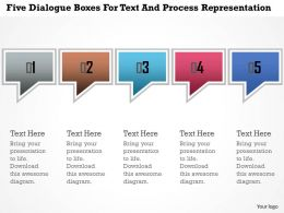 Ea Five Dialogue Boxes For Text And Process Representation Powerpoint Template