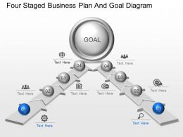 ea Four Staged Business Plan And Goal Diagram Powerpoint Template
