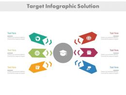 ea Six Business Icons Arrows For Educational Targets Flat Powerpoint Design