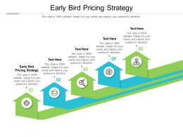 Early Bird Pricing Strategy Ppt Powerpoint Presentation File Styles Cpb