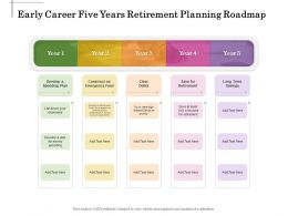 Early Career Five Years Retirement Planning Roadmap