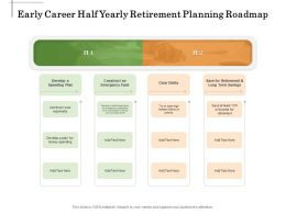Early Career Half Yearly Retirement Planning Roadmap