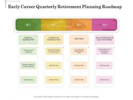 Early Career Quarterly Retirement Planning Roadmap