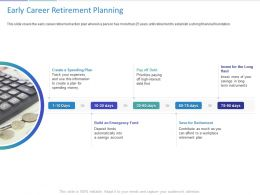 Early Career Retirement Planning Ppt Powerpoint Presentation Themes