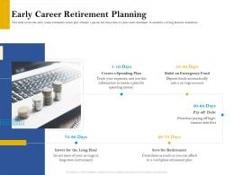 Early Career Retirement Planning Retirement Analysis Ppt Pictures Clipart