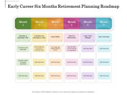 Early Career Six Months Retirement Planning Roadmap