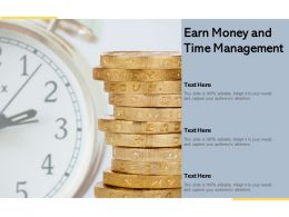Earn Money And Time Management