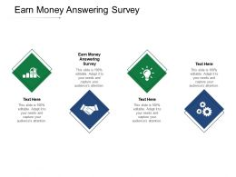 Earn Money Answering Survey Ppt Powerpoint Presentation Infographics Good Cpb
