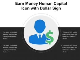 Earn Money Human Capital Icon With Dollar Sign