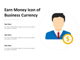 Earn Money Icon Of Business Currency