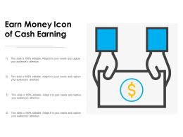 Earn Money Icon Of Cash Earning