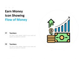 Earn Money Icon Showing Flow Of Money