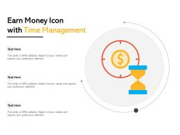 Earn Money Icon With Time Management