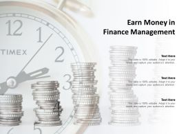 Earn Money In Finance Management
