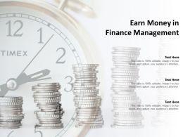 Earn Money In Finance Management