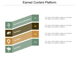 Earned Content Platform Ppt Powerpoint Presentation Infographic Template Example Introduction Cpb
