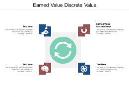 Earned Value Discrete Value Ppt Powerpoint Presentation Pictures Show Cpb
