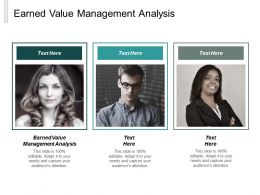 Earned Value Management Analysis Ppt Powerpoint Presentation Model Cpb