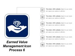 Earned Value Management Icon Process 6