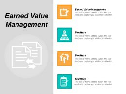 Earned Value Management Ppt Powerpoint Presentation Icon Influencers Cpb