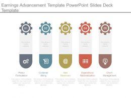 Earnings Advancement Template Powerpoint Slides Deck Template