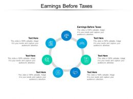Earnings Before Taxes Ppt Powerpoint Presentation Ideas Aids Cpb