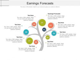 Earnings Forecasts Ppt Powerpoint Presentation Slides Graphics Pictures Cpb