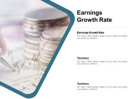 Earnings Growth Rate Ppt Powerpoint Presentation Model Slides Cpb