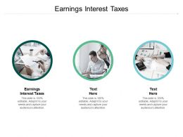 Earnings Interest Taxes Ppt Powerpoint Presentation Show Skills Cpb
