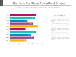 Earnings Per Share Powerpoint Shapes