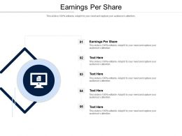 Earnings Per Share Ppt Powerpoint Presentation Pictures Slides Cpb