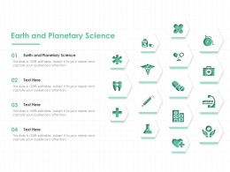 Earth And Planetary Science Ppt Powerpoint Presentation Inspiration Microsoft