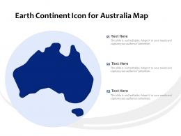 Earth Continent Icon For Australia Map