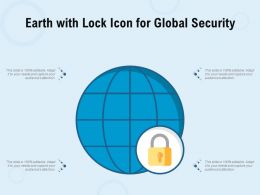 Earth With Lock Icon For Global Security