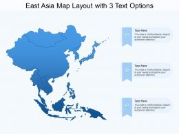 East Asia Map Layout With 3 Text Options