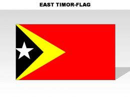 East Timor Country Powerpoint Flags