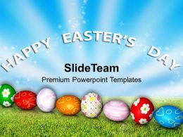 Easter Bunnies Celebration Of Jesus Return Happy Day Powerpoint Templates Ppt Backgrounds For Slides