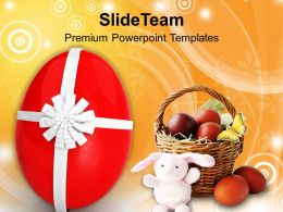 Easter Bunny Celebrate This With Gifts Powerpoint Templates Ppt Backgrounds For Slides