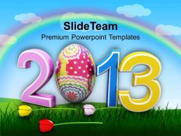 Easter Bunny Clipart 2013 Happy Day Holidays Powerpoint Templates Ppt Backgrounds For Slides