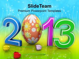 Easter Bunny Clipart 2013 With Egg Festival Powerpoint Templates Ppt Backgrounds For Slides