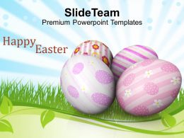 Easter Bunny Day Of Religious Services Powerpoint Templates Ppt Backgrounds For Slides