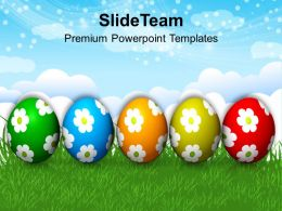 Easter Bunny Eggs Full With Surprises Powerpoint Templates Ppt Backgrounds For Slides