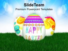 Easter Bunny Pics Eggs With 3d View Powerpoint Templates Ppt Backgrounds For Slides